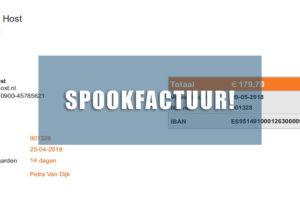 Spookfacturen en domeinnaam-kletspraat